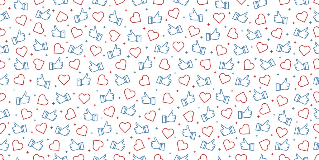 Get more likes seamless background. stylish social for media concept.