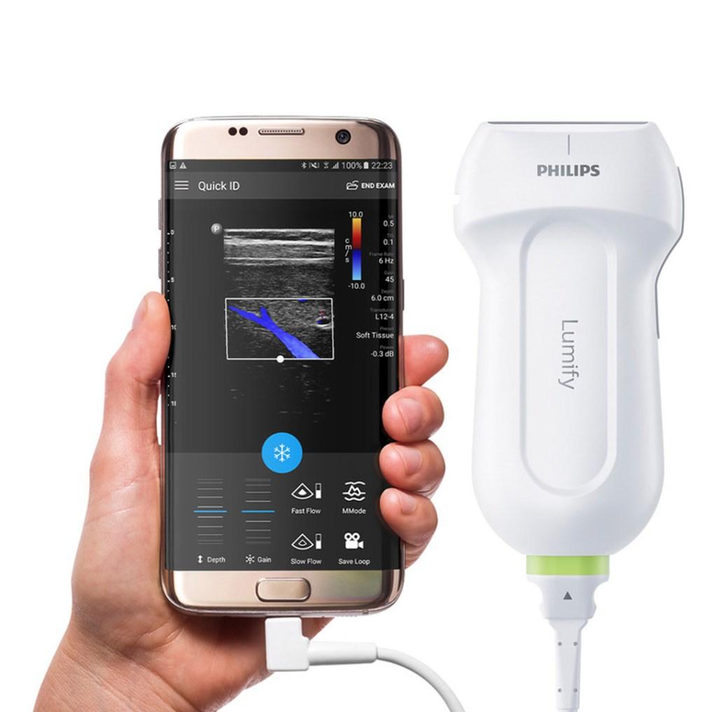 sonde echographique connectée lumify